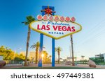Stock photo  the welcome to fabulous las vegas sign in las vegas nevada usa 497449381