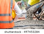 civil engineering check a... | Shutterstock . vector #497453284