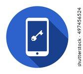 key icon. flat design. | Shutterstock .eps vector #497456524