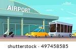 city transport cartoon... | Shutterstock .eps vector #497458585