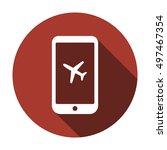 aircraft icon. flat design. | Shutterstock .eps vector #497467354