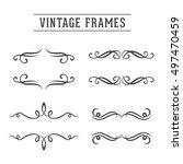 vintage frames. ornaments set | Shutterstock .eps vector #497470459