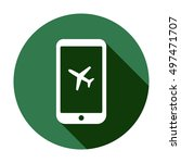 aircraft icon. flat design. | Shutterstock .eps vector #497471707