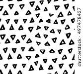 seamless vector hand drawn... | Shutterstock .eps vector #497478427