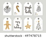 set with merry christmas and... | Shutterstock .eps vector #497478715