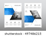 brochure layout template flyer... | Shutterstock .eps vector #497486215