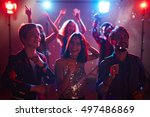 party of friends | Shutterstock . vector #497486869