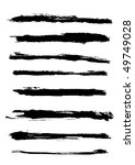 a set of grunge  brush strokes | Shutterstock . vector #49749028