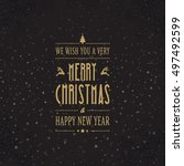 merry christmas tree card   Shutterstock .eps vector #497492599