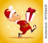 vector flat christmas santa...   Shutterstock .eps vector #497506639