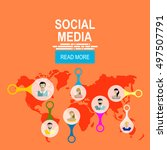 social media network. | Shutterstock .eps vector #497507791