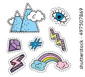 fashion cute patches  stickers... | Shutterstock .eps vector #497507869