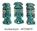 mayan god statue from mexico...   Shutterstock . vector #49750879