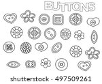 hand drawn sewing buttons set.... | Shutterstock .eps vector #497509261