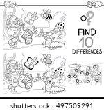 black and white cartoon... | Shutterstock .eps vector #497509291