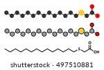tetradecylthioacetic acid  tta  ...   Shutterstock .eps vector #497510881