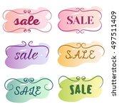 sale lettering on background of ... | Shutterstock .eps vector #497511409