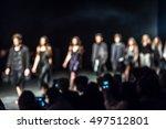 fashion show  a catwalk event... | Shutterstock . vector #497512801