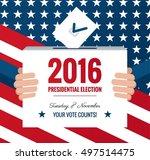 presidential election banner...   Shutterstock .eps vector #497514475