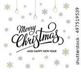 merry christmas and happy new... | Shutterstock .eps vector #497519539