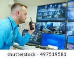 video monitoring surveillance... | Shutterstock . vector #497519581