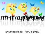 butterflies in envelope and...   Shutterstock .eps vector #49751983