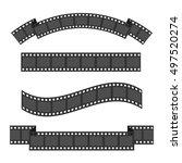 film strip frame four set.... | Shutterstock . vector #497520274