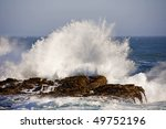 A Huge Wave Hits The Rocks
