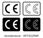 black isolated ce illustration... | Shutterstock .eps vector #497522989