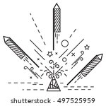 diwali crackers   Shutterstock .eps vector #497525959