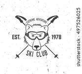 ski club concept. vector ski... | Shutterstock .eps vector #497526025