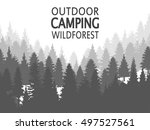 wild coniferous forest... | Shutterstock .eps vector #497527561