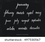calligraphic set with... | Shutterstock .eps vector #497530567