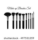 set of cosmetic brushes for... | Shutterstock .eps vector #497531359