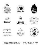 set of vintage bakery labels ... | Shutterstock .eps vector #497531479
