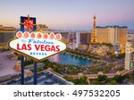 welcome to fabulous las vegas... | Shutterstock . vector #497532205