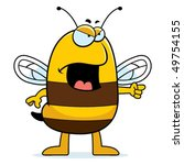 angry bee | Shutterstock .eps vector #49754155