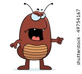 angry,animal,blame,bug,cartoon,flea,furious,illustration,insect,mad,pointing,roach,tick,vector