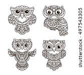 vector  contour  illustration ... | Shutterstock .eps vector #497543305