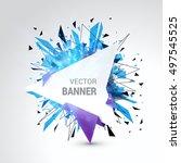white origami paper banner