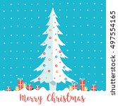 merry christmas written with... | Shutterstock .eps vector #497554165
