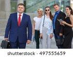 well dressed business team...   Shutterstock . vector #497555659
