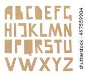 vector cardboard abc. rough... | Shutterstock .eps vector #497559904