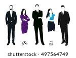 set of business people vector... | Shutterstock .eps vector #497564749