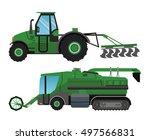 truck machine and farm... | Shutterstock .eps vector #497566831
