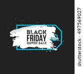 black friday sale abstract... | Shutterstock .eps vector #497569027