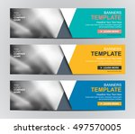 abstract banner design... | Shutterstock .eps vector #497570005