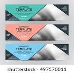 abstract banner design... | Shutterstock .eps vector #497570011