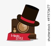 hipster and fashion style design | Shutterstock .eps vector #497573677
