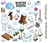 cold winter collection  items... | Shutterstock .eps vector #497576011